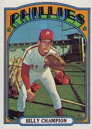 1972 Topps Baseball Cards      599     Billy Champion